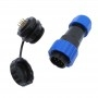 SP20 panel, IP68 waterproof cable connector, 9-pin, AMPUL.EU