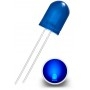 LED Diode 10mm, Diffuse blue