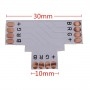 T for LED strips, 4-pin, 10mm, AMPUL.EU