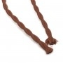 Retro spiral cable, wire with textile cover 2x0.75mm, brown
