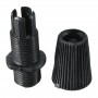 Cable gland with M10 bolt, black, AMPUL.EU
