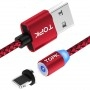 Magnetic cable for iPhone, red, 1m, AMPUL.EU