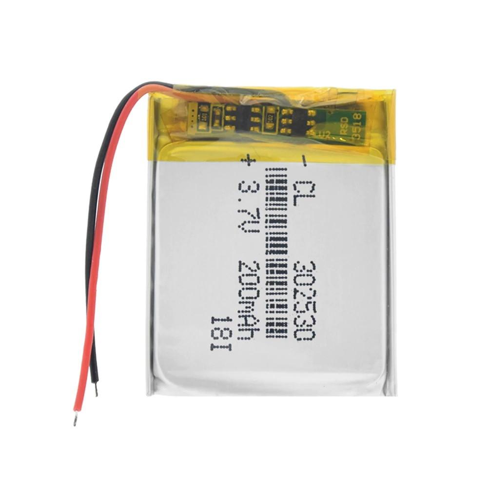 Li-Pol baterie 200mAh, 3.7V, 302530
